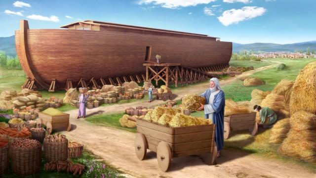 Dieu veut détruire le monde par un déluge, Il charge Noé de construire une arche