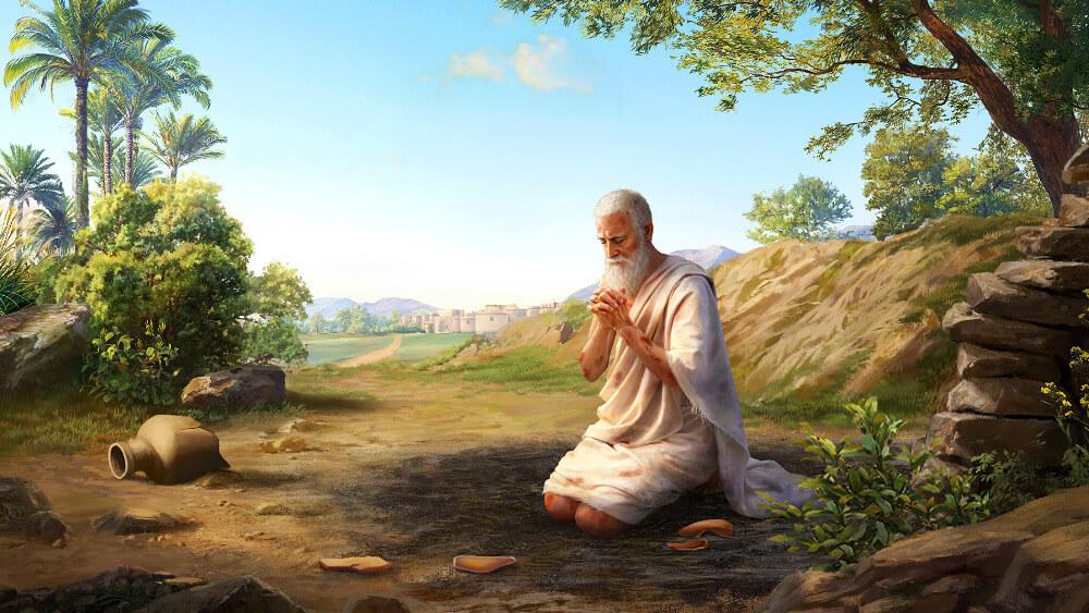 Job bénit le nom de Dieu et ne pense pas aux bénédictions ou aux désastres