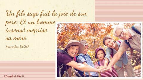 14 versets bibliques à propos de famille