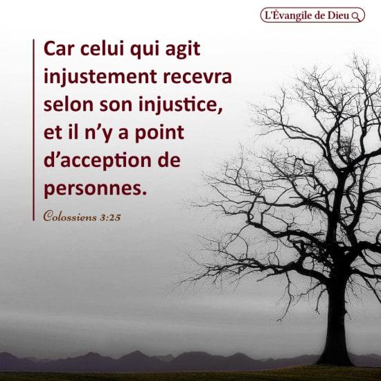 Évangile du jour — La justice de Dieu