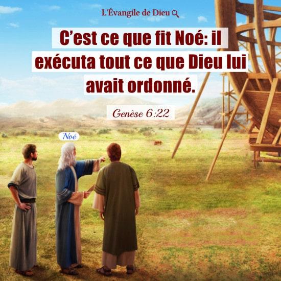 Évangile du jour — Noé obéit aux instructions de Dieu