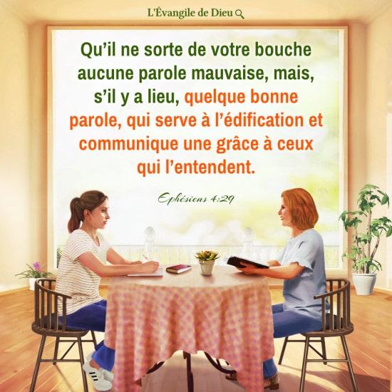 Évangile du jour — La parole qui sort de notre bouche devrait servir à l'édification à ceux qui l'entendent