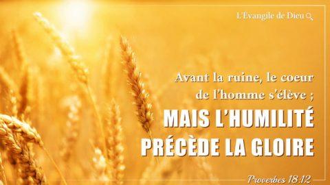 Les versets sur l'humilité