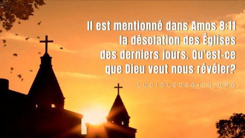 Il est mentionné dans Amos 8:11 la désolation des Églises des derniers jours. Qu'est-ce que Dieu veut nous révéler ?