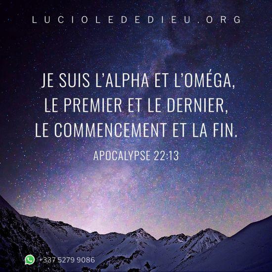 Apocalypse22:13
