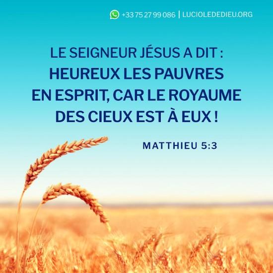 Matthieu 5:3