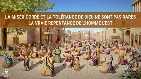 La miséricorde et la tolérance de Dieu ne sont pas rares – la vraie repentance de l'homme l'est