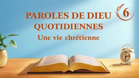 La connaissance des trois étapes de l'œuvre de Dieu est la voie de la connaissance de Dieu
