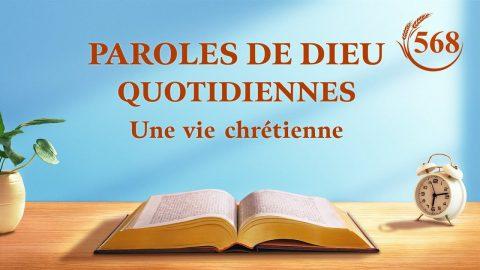 Paroles de Dieu quotidiennes   « Comment suivre la voie de Pierre »   Extrait 568